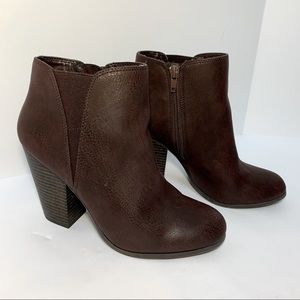Fergalicious Chunky Heeled Ankle Boots Booties 6.5